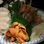 刺し盛り(ソイ、鰺、ウニ)