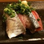新秋刀魚の握り